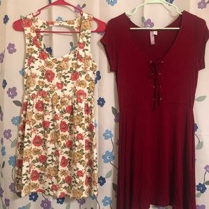 2 size medium dresses like new Forever 21 floral